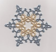 Le Blog de Frivole: Flitting...idea--different color rounds of snowflake looks pretty