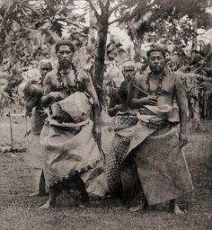 """Samoan Chiefs - 1870s  Samoan Islands, Apia, Chiefs (1870s)  The photographer was G. Riemer, the paymaster of the SMS Hertha who took many stereoviews during the journey of the """"Hertha"""" to East Asia and the Islands in the South Pacific. (1874 - 1877)"""