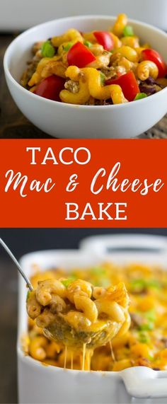 This baked mac and cheese combines Wisconsin pepper jack, cheddar and cream cheese with ground beef and fresh vegetables to give you all the flavor of your favorite taco in a bowl.