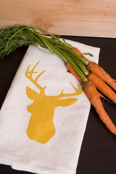 stag tea towel from etsy seller TangerineHome