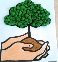 tree and forest Earth Day Activities, Activities For Kids, Art For Kids, Crafts For Kids, Earth Day Crafts, Environment Day, Arbour Day, Paper Crafts Origami, Mothers Day Crafts