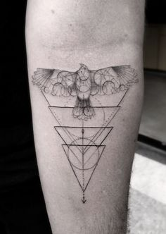 Bird Among Triangles