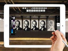 stencil digitales en iPad