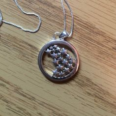 "925 sterling silver necklace The script on the side says ""live your own life... Follow your own star"" never worn Jewelry"