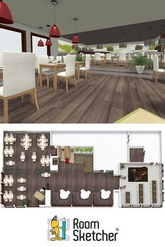 RoomSketcher is not only for home design - you can plan a restaurant, café or…