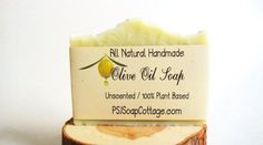 Unscented Gentle Face Wash Olive Oil Soap by PSJSoapCottage