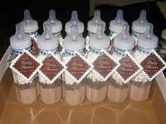 Winter baby shower gift/favors.-mal Could put a cookie recipe inside bottles-adr