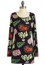 Comic Relief Dress   Mod Retro Vintage Dresses   ModCloth.com