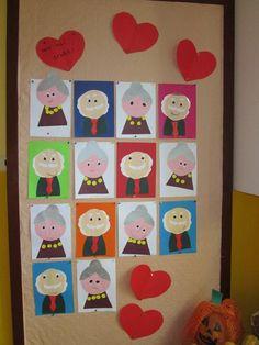 Babka a dedko Family Crafts, Crafts For Kids, Grandparents Day Activities, Felt Ornaments, My Family, Preschool, Classroom, Teaching, Education