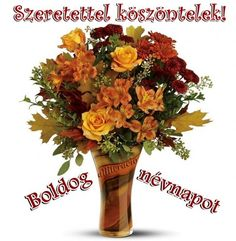 Name Day, Topiary, Cut Flowers, Flower Arrangements, Glass Vase, Birthday, Google, Picasa, Floral Arrangements