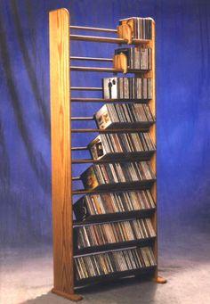 how to make wooden cd holder | Journal → I Built a Custom CD Rack - PHOTOS!