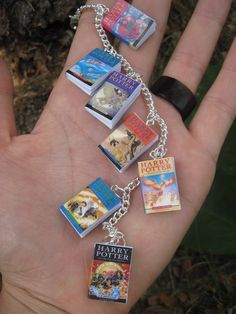 Harry Potter Book Bracelet UK Editions by MiniBooksJewelry on Etsy, $19.00