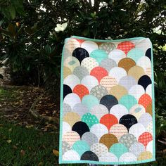 Glam Clam Quilt by Megan @sweetfeetstitches