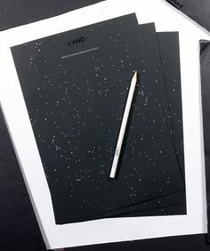 star-sprinked hotel stationery & silver pencil by L'and Vineyards, Portugal