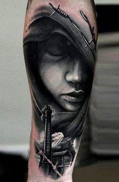 Realism Face Tattoo by U Gene…