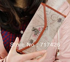 High Quality 2013 New Arrival Small Bear Vintag e pic Wallet Women's Long Purse Free Shipping $10.99