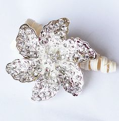And this...  SALE Rhinestone Brooch Component Crystal by yourperfectgifts, $4.98