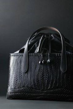 Japanese bamboo bag with lacquer coating by Kohchosai Kosuga: