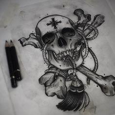 V.2.0 rough sketch for client. For bookings or inquires email jesseptattoo@Gmail.com •••••#artwork#illustration #rose #art #painting #black#traditionaltattoo #neotrad #neotraditional #tattoosnob #tttism #tattooworkers #ntgallery #neotradsub #melbourne #tattoo #tattoos #neotradeu #darkartists #skinartmag #skulls #d_world_of_ink #blacktattooart #blackwork #trad #sketch | Artist: @jesseptattoo
