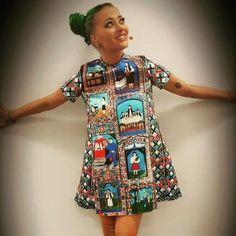 Delia, singer The Multi Cemetery dress by Lana Dumitru Short Sleeve Dresses, Dresses With Sleeves, Digital Prints, Singer, Cemetery, How To Wear, Fashion, Fingerprints, Moda