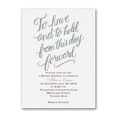 40% OFF  Have and Hold - Bridal Shower Invitation  http://mediaplus.carlsoncraft.com/Wedding/Bridal-Shower-Invitations/3254-TWS37592-Have-and-Hold--Bridal-Shower-Invitation.pro