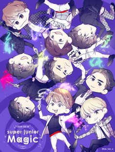 Heechul, Leeteuk, Choi Siwon, Kangin Super Junior, Anime Version, Last Man Standing, Bts And Exo, Kpop Fanart, Tvxq