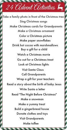 24 Advent Activities