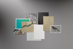 The interplay of the surface finished with silver and the harmonious colour combination lends the Hieronymus greeting cards its noticeably contemporary style