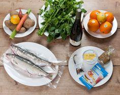 Die TastyBox zum Kochen im Januar 2012 - so sah' der Inhalt aus: Bodenseefelchen mit Alp- Linsen und Basilikumpüree!