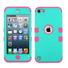 MYBAT TUFF Hybrid Apple iPod Touch 5G / 6G Case - Teal/Pink