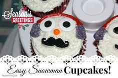 Snowman Cupcakes #Recipe and A Great Sweet Creations Cupcake Carrier! #HolidayGG13 — The Queen of Swag!