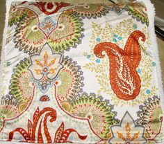 POTTERY BARN Linden Silk Pillow Cover Paisley Floral PRINT Ivory 20X20--OMG!!! #PotteryBarn