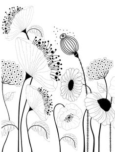 Doodle Patterns 298504281557513228 - Flowers drawing doodles inspiration zentangle patterns ideas Source by calmettesv Flower Pattern Design, Flower Patterns, Flower Pattern Drawing, Design Floral, Pattern Art, Art Doodle, Illustration Vector, Pattern Illustrations, Garden Illustration