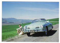 1963 Karmann Ghia in Salinas Valley, CA, mid-1960s
