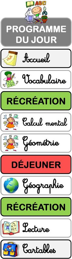 programme du jour Teacher Classroom Decorations, School Classroom, Classroom Ideas, French Teacher, Teaching French, Classroom Organisation, Classroom Management, Classroom Schedule Cards, French Classroom