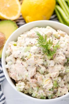 Tuna Salad is a simple comfort food favorite. This recipe has been lightened up, for a healthy tuna salad that tastes great and is good for you too!