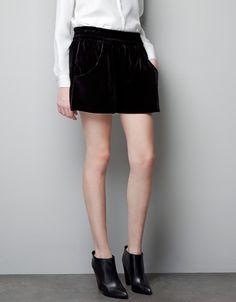 VELVET BERMUDA SHORTS - Trousers - Woman - ZARA