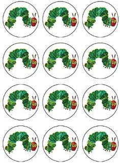 Very Hungry Caterpillar - ABC Edible Cake Art Caterpillar birthday party supplies Edible Image for cupcake toppers. Yes you can EAT these cupcake toppers! No plastic toppers to throw away, no mess! DIY Birthday cake and cupcake Hungry Caterpillar Cupcakes, Hungry Caterpillar Activities, Very Hungry Caterpillar, Hungry Caterpillar Classroom, Eric Carle, Make Birthday Cake, Birthday Banners, Farm Birthday, Birthday Invitations
