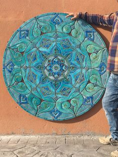 Top large wall art decor ideas for your home Mosaic Garden Art, Garden Wall Art, Mosaic Wall Art, Clay Wall Art, Ceramic Wall Art, Metal Tree Wall Art, Mandala Mural, Grand Art Mural, Large Wall Murals
