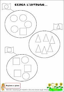 Schede didattiche figure geometriche per bambini di 3 4 for Maestra agnese carnevale