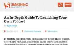 Mobile Navigation For Smashing Magazine: A Case Study
