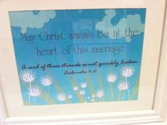 Framed Scripture Inspirational Message by PookiedotCreations