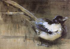 The Magpie by JOSEPH CRAWHALL, R.S.W. (1861 - 1913)