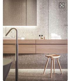 Light Wood + Stone bathroom