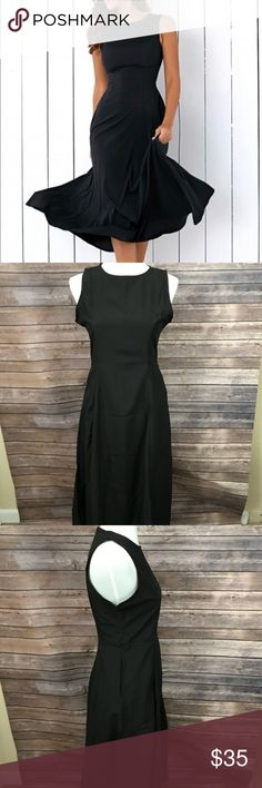 """Meiniqin BOUTIQUE Semi-formal swing dress -pockets NEW BOUTIQUE Classy black swing dress with pockets!   Approximate Measurements: 46"""" long 37"""" bust (won't fit larger likely) 31"""" waist (no give) 47"""" hips 102"""" around at the bottom Meiniqin Dresses"""