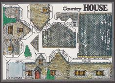 X2601-Cut-out-postcard-Country-House-Fiddlers-Green-4-by-6-inches
