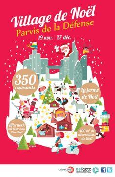 Le Marché de Noël de La Défense, véritable village de Noël, s'installe sur le parvis pour la 21ème année consécutive ! The Christmas Market in La Défense, a true Christmas village, settled on the square for the 21 th consecutive year!