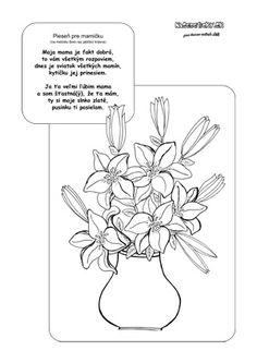Pieseň pre mamu na Deň matiek Diy And Crafts, Cricut, Create A Critter