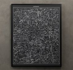 lithograph map of London