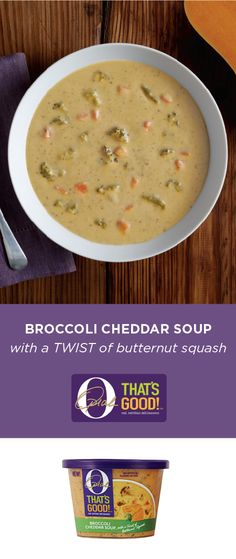 For a go-to, fall meal idea that's sure to speak to your taste buds, check out this Broccoli Cheddar Soup from O, That's Good! With a TWIST of butternut squash, this flavorful dish is sure to be a welcome addition to your dinner table or packed lunch.